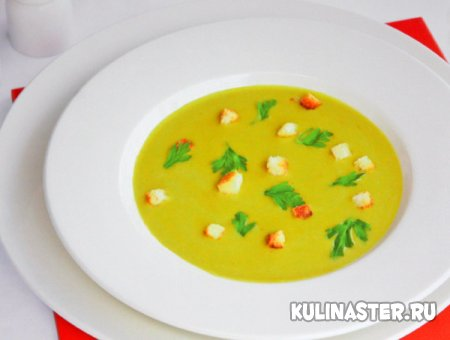 Суп Сен Жермен с гренками