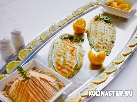 Рецепт морской язык камбала с пастой из анчоусов и картофелем пофранцузски